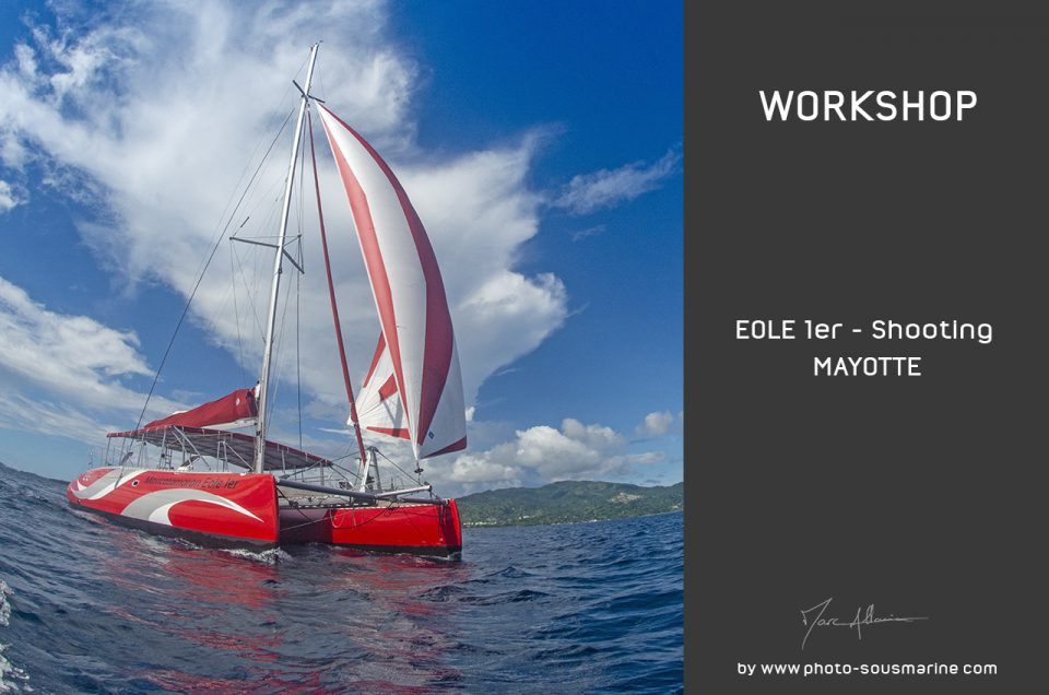 Shooting catamaran Eole 1er
